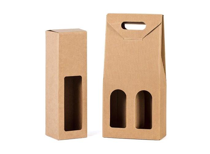 scatola in cartone bottiglie