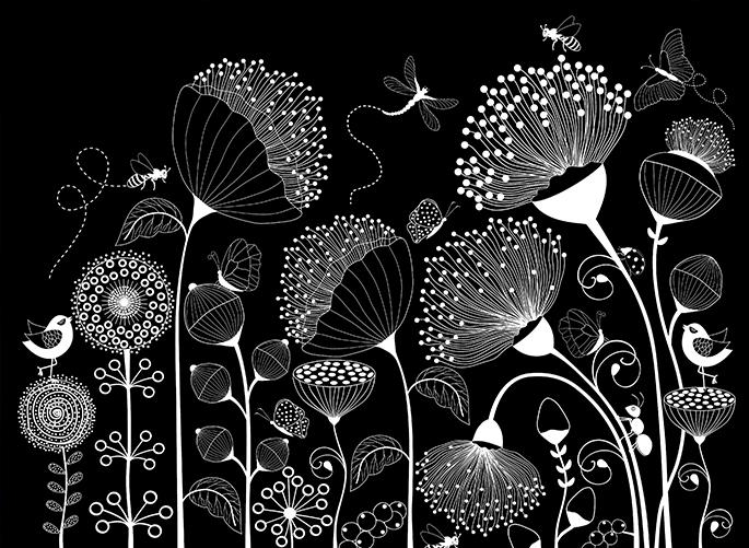 stampa bianco e nero coprente